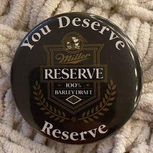 Miller Reserve Button